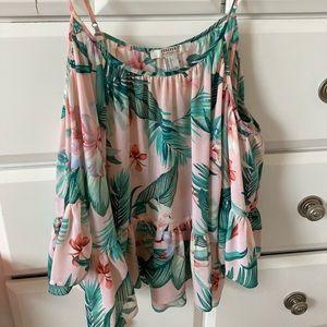 Forever 21 pink summer blouse